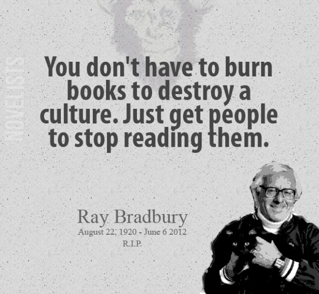 Bradbury on Not Reading